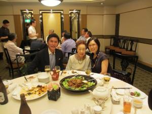 90歳の西川鯉近先生、粤劇俳優倪恵英さんと再会